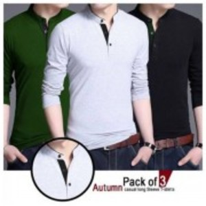 Pack of 3-Autumn Casual Long Sleeves T-Shirt