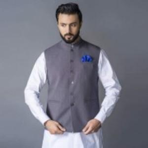 Grey Poly Cotton Waist Coat