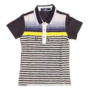 Grey Cotton Jersey Polo Shirt