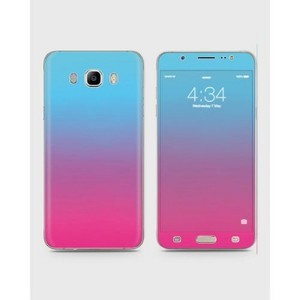 Samsung Galaxy J7 2016 (J710) Skin Wrap Mix Color Blue&Pink-1wall16-64