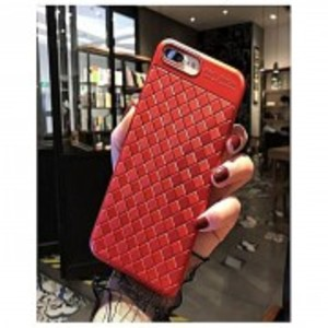 Luxury Weaving Grid Bumper Case For Oppo A37-Red