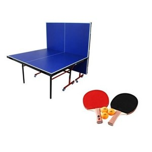 Table Tennis Butterfly Style Table With Net, Bats & Rackets