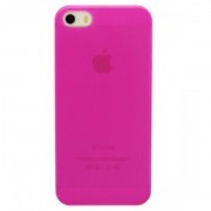 Ultra Thin Transparent Tpu Matte Case For Apple Iphone 5, 5S-Pink