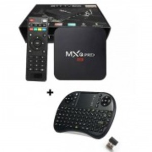 Combo MXQ PRO - Smart TV Box 1GB/8GB with Wireless Keyboard - Black