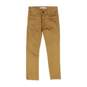 SUITBLANCO Straight Fit Cotton Khakhi Brown Chino