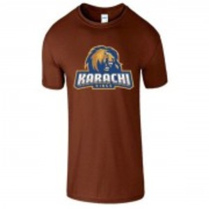 Brown Cotton Karachi King Printed T-Shirt-00401