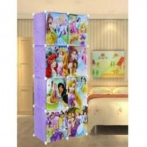 Princess Storage Cabinet & Wardrobe For Kids - 8 Cubes