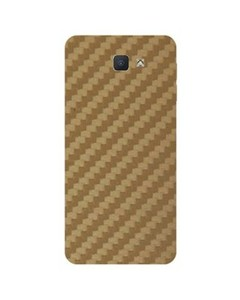 Decor Today Samsung On5 2016 Golden Carbon Fiber Texture Mobile Skin-Back & Sides