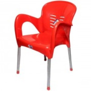 Plastic Res Relaxo Chair-Red