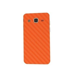 Samsung Galaxy J7 2015 Orange Texture Skin-Back & Sides-DT2292B