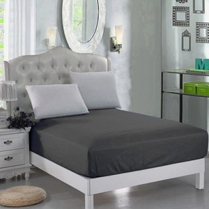 Dark Grey Jersey & Cotton Single Size Bed Sheet SB-Cotton4