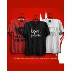 Pack Of 3 Printed T-Shirt-TS395