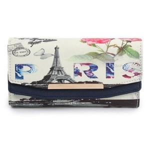 Blue Paris Printed Wallet