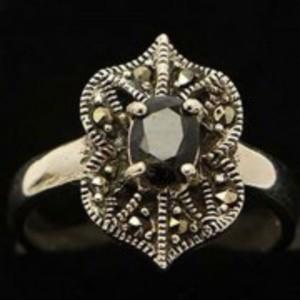 Sapphire Stone Silver Ring GB(5)4903