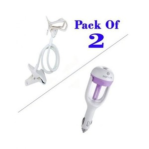 Pack Of 2-Flexible Mobile Holder With Car Air humidifier