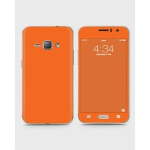 Samsung Galaxy J1 2016 (J110) Skin Wrap In Orange Color-1wall18-61