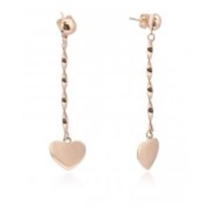 Golden 18-K Heart Rose Gold Plated Earrings