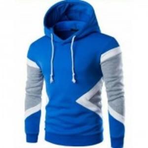 Fleece Printed Hoodies - Blue - Ara-Phoodultistb