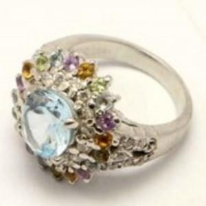 Blue Topaz Stone Ring GB 20 5440