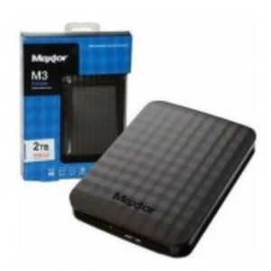 Maxtor 2TB M3 Portable External Hard Drive with Carry Pouch