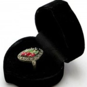 Emerald Sapphire and Ruby Stone Silver Ring GB(5)4399