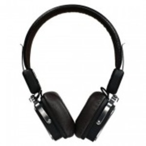 Rb-200HB-Leather Bluetooth 4.0 Headphone-Black
