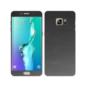 Samsung Galaxy S6 Edge Plus Black Common Leather Texture Skin-DT3431