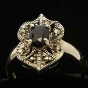 Sapphire Stone Silver Ring GB(5)4902