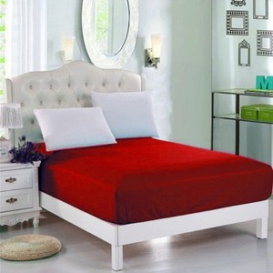 Red Jersey & Polyester Single Size Bed Sheet SB-Mix6