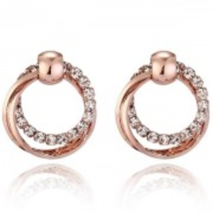 Gold Round Glowing Earrings - Ae64