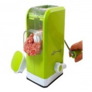 Mini Meat Grinder & Food Mincer with Bucket-Green
