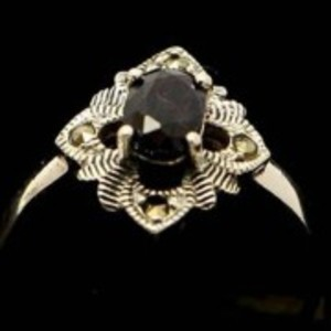Sapphire Stone Silver Ring GB(5)4917