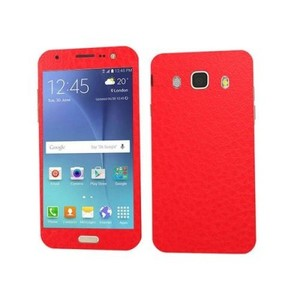Samsung Galaxy J5 2016 Red Common Leather Texture Mobile Skin