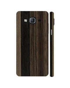 Decor Today Samsung On5 2015 Brown Stripped Wooden Texture Mobile Skin-Back & Sides