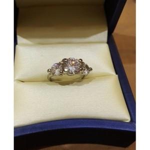 Fancy Zirconia Ring-Silver