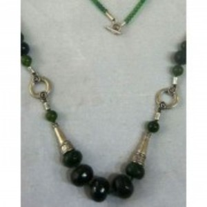 Green Jade Stone Necklaces From Gilgit Baltistan