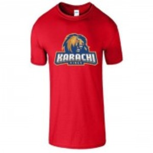 Red Cotton Karachi King Printed T-Shirt-00425