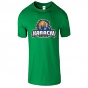 Green Cotton Karachi King Printed T-Shirt-00405