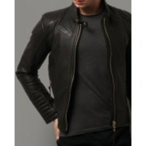 Old School Stylish Black Faux Leather Jacket 13 Otf -Black