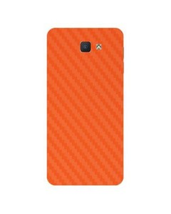 Decor Today Samsung On5 2016 Orange Carbon Fiber Texture Mobile Skin-Back & Sides
