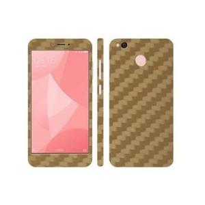 Xiaomi Redmi 4X Golden Carbon Fiber Texture Skin-DT7392