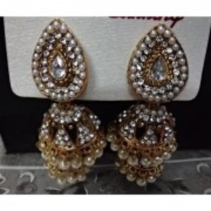 Antique Gold Plated Earrings For Women