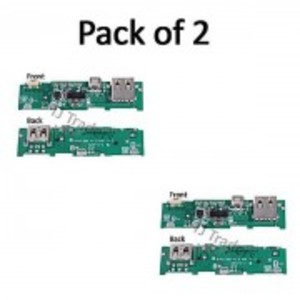 Pack of 2-Power Bank Charger Board Charging Circuit PCB