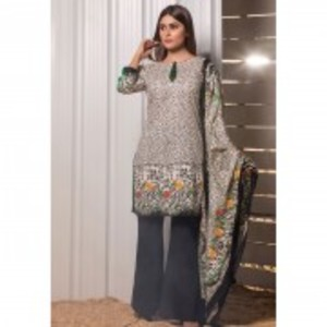 Multicolour Printed Mid Summer Lawn Unstitched 3 Piece