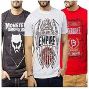 Pack Of 3 Printed T-Shirt-TS335