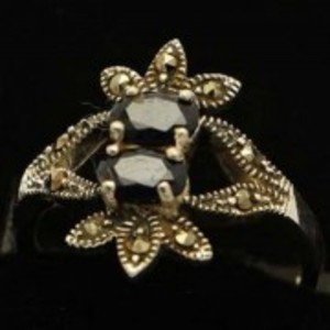 Sapphire Stone Silver Ring GB(5)4909
