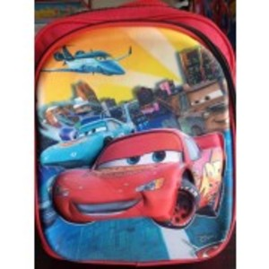 3D-Cartoon Character The Cars School Bag - small size