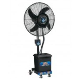 """Mist Fan Pedestal - Heavy Duty Motor - 24""""- Black"""