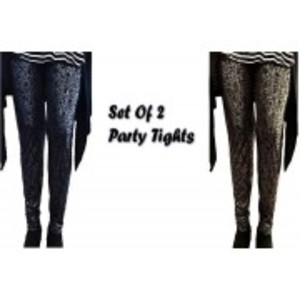 Pack of 2 Printed Tights