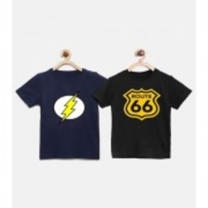 The Shop - Pack Of 2 Printed T-Shirt For Boys